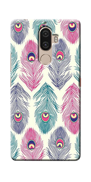 Digiprints Colorful Feathers Printed Designer Back Case Cover For Lenovo K8 Plus