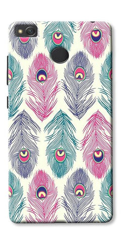 Colorful Feathers Printed Designer Back Case Cover For Xiaomi Redmi 3s Prime