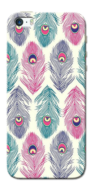 Digiprints Colorful Feathers Printed Designer Back Case Cover For Apple iPhone 5