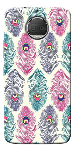 Colorful Feathers Printed Designer Back Case Cover For Motorola Moto G5S Plus