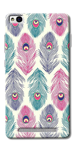 Colorful Feathers Printed Designer Back Case Cover For Xiaomi Redmi 3s