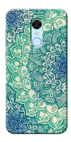 Blue Leather Pattern Printed Designer Back Case Cover For Xiaomi Redmi 5