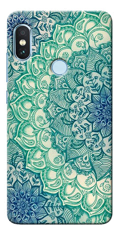 Blue Leather Pattern Printed Designer Back Case Cover For Xiaomi Redmi Note 5 Pro