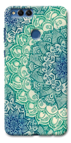 Digiprints Green Ethnic Pattern Printed Designer Back Case Cover For Huawei Honor 7X