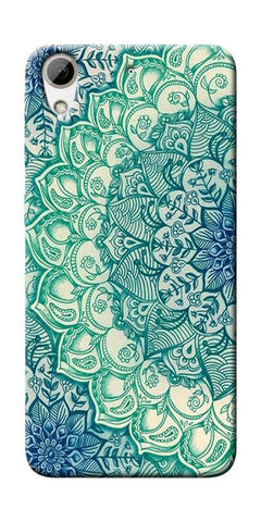 Green Ethnic Pattern Printed Designer Back Case Cover For HTC Desire 626