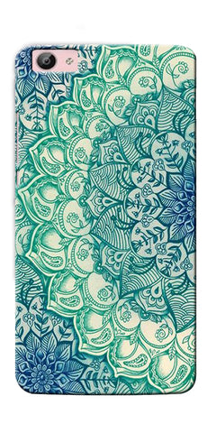Digiprints Green Ethnic Pattern Printed Designer Back Case Cover For Vivo V5 Plus