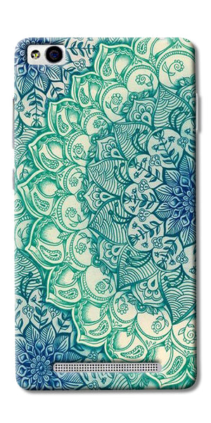 Green Ethnic Pattern Printed Designer Back Case Cover For Xiaomi Redmi 3s