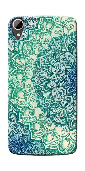 Green Ethnic Pattern Printed Designer Back Case Cover For HTC Desire 828