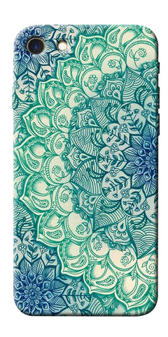 Digiprints Green Ethnic Pattern Printed Designer Back Case Cover For Apple iPhone 7