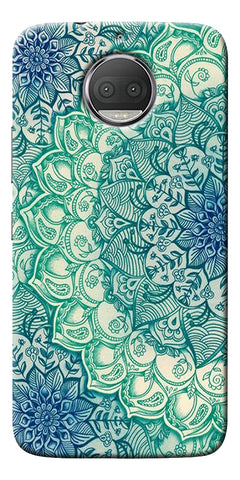 Green Ethnic Pattern Printed Designer Back Case Cover For Motorola Moto G5S Plus