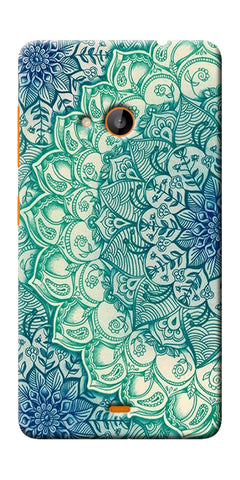Digiprints Green Ethnic Pattern Printed Designer Back Case Cover For Microsoft Lumia 540