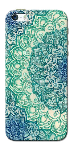 Digiprints Green Ethnic Pattern Printed Designer Back Case Cover For Apple iPhone 5