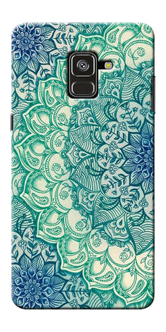 Green Ethnic Pattern Printed Designer Back Case Cover For Samsung Galaxy A8 Plus 2018