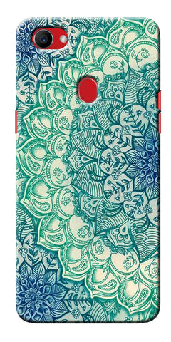 Digiprints Green Ethnic Pattern Printed Designer Back Case Cover For Oppo F7