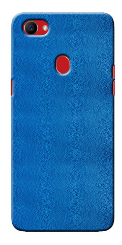 Digiprints Blue Leather Pattern Printed Designer Back Case Cover For Oppo F7