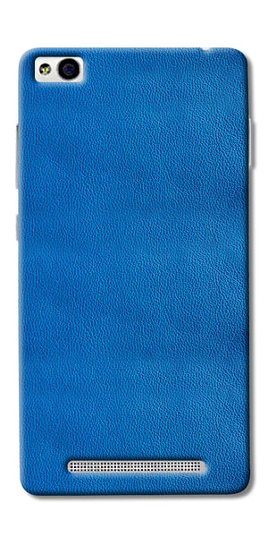 Blue Leather Pattern Printed Designer Back Case Cover For Xiaomi Redmi 3s