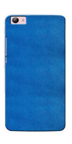 Digiprints Blue Leather Pattern Printed Designer Back Case Cover For Vivo V5S