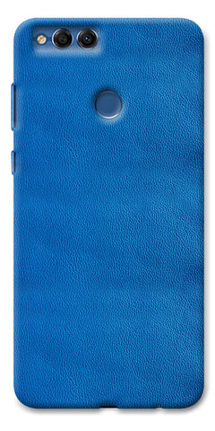 Digiprints Blue Leather Pattern Printed Designer Back Case Cover For Huawei Honor 7X