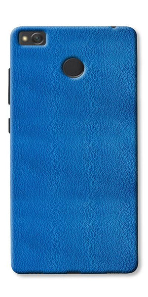 Blue Leather Pattern Printed Designer Back Case Cover For Xiaomi Redmi 3s Prime