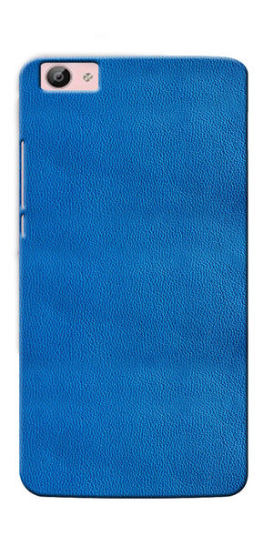 Digiprints Blue Leather Pattern Printed Designer Back Case Cover For Vivo V5 Plus