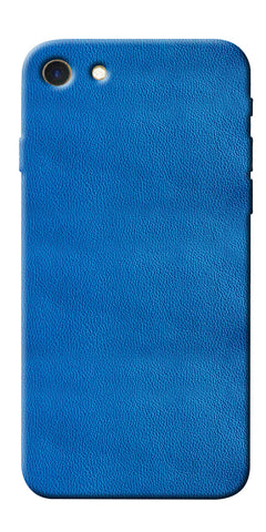 Digiprints Blue Leather Pattern Printed Designer Back Case Cover For Apple iPhone 7