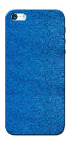 Digiprints Blue Leather Pattern Printed Designer Back Case Cover For Apple iPhone 5