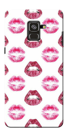 Kissing Lips Printed Designer Back Case Cover For Samsung Galaxy A8 Plus 2018