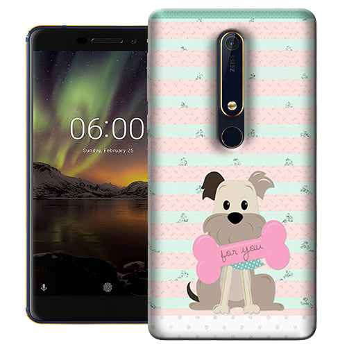 Digiprints Innocent Puppy  Printed Designer Back Case Cover For Nokia 6.1(2018)