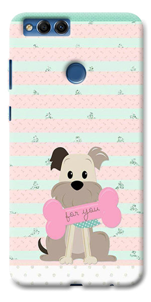 Digiprints Innocent Puppy  Printed Designer Back Case Cover For Huawei Honor 7X