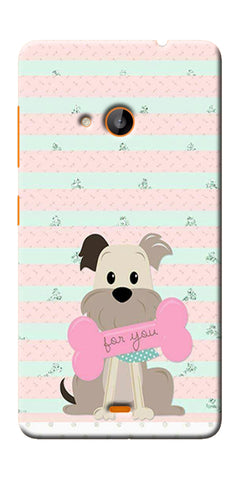 Digiprints Innocent Puppy  Printed Designer Back Case Cover For Microsoft Lumia 540