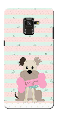 Innocent Puppy  Printed Designer Back Case Cover For Samsung Galaxy A8 Plus 2018