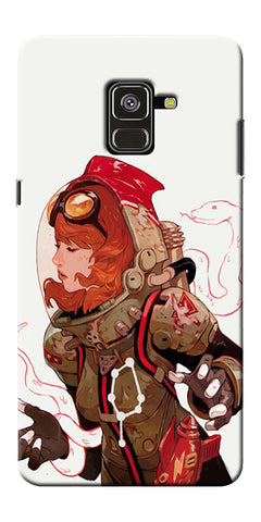 Space Pin Up Girl Printed Designer Back Case Cover For Samsung Galaxy A8 Plus 2018