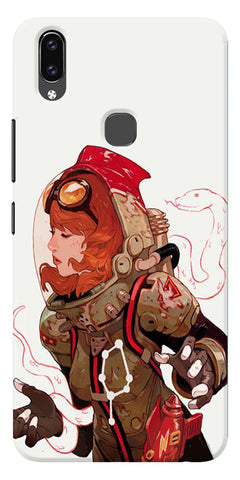 Space Pin Up Girl Printed Designer Back Case Cover For Vivo V9