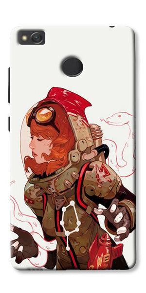 Space Pin Up Girl Printed Designer Back Case Cover For Xiaomi Redmi 3s Prime