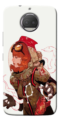 Space Pin Up Girl Printed Designer Back Case Cover For Motorola Moto G5S Plus