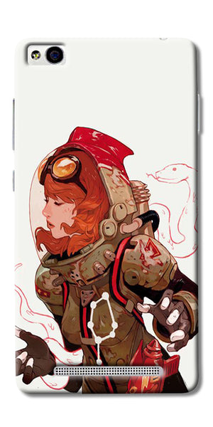 Space Pin Up Girl Printed Designer Back Case Cover For Xiaomi Redmi 3s