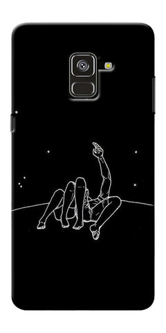 Couple In Moonlight Printed Designer Back Case Cover For Samsung Galaxy A8 Plus 2018