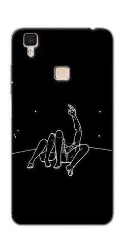 Digiprints Couple In Moonlight Printed Designer Back Case Cover For Vivo V3