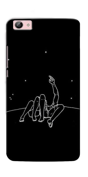 Digiprints Couple In Moonlight Printed Designer Back Case Cover For Vivo V5S