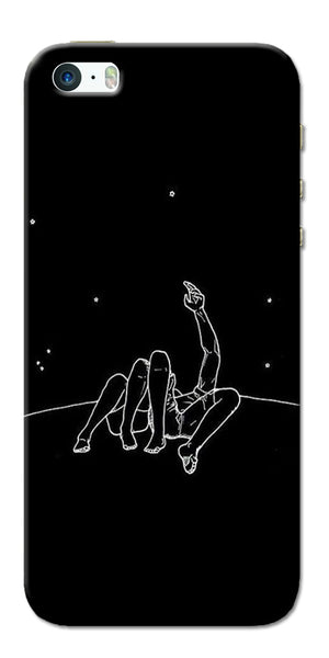 Digiprints Couple In Moonlight Printed Designer Back Case Cover For Apple iPhone 5