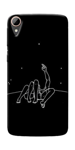 Couple In Moonlight Printed Designer Back Case Cover For HTC Desire 828