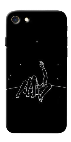 Digiprints Couple In Moonlight Printed Designer Back Case Cover For Apple iPhone 7