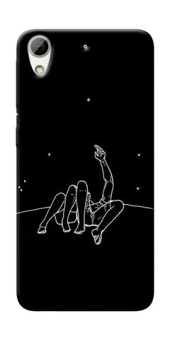 Couple In Moonlight Printed Designer Back Case Cover For HTC Desire 626