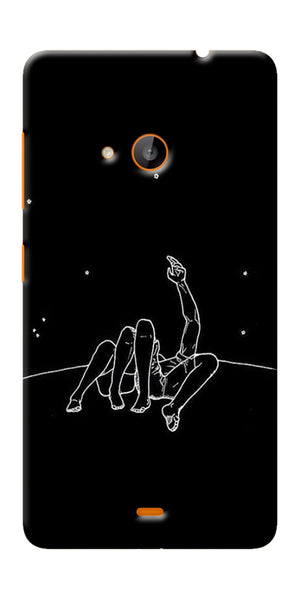 Digiprints Couple In Moonlight Printed Designer Back Case Cover For Microsoft Lumia 540