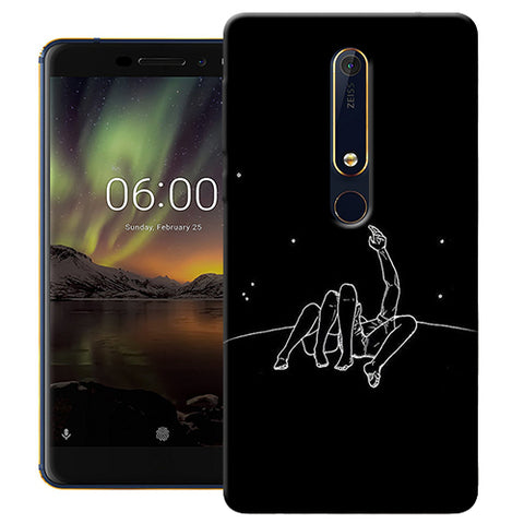 Digiprints Couple In Moonlight Printed Designer Back Case Cover For Nokia 6.1(2018)