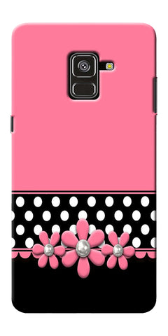 Pink Black Girly Design Printed Designer Back Case Cover For Samsung Galaxy A8 Plus 2018