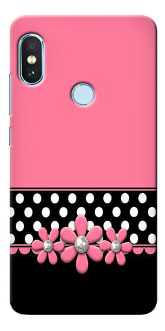 Pink Leather Design Printed Designer Back Case Cover For Xiaomi Redmi Note 5 Pro