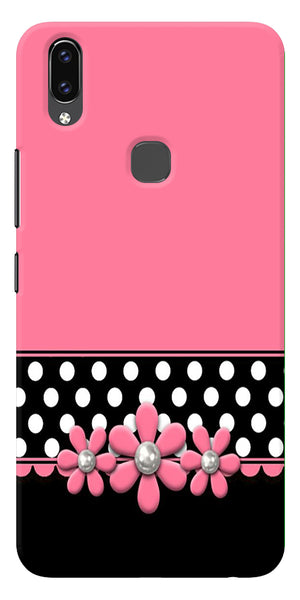 Pink Black Girly Design Printed Designer Back Case Cover For Vivo V9