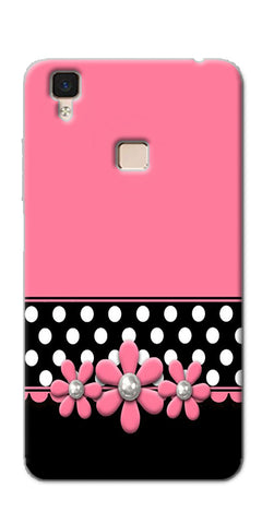 Digiprints Pink Black Girly Design Printed Designer Back Case Cover For Vivo V3