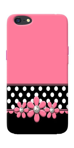 Pink Black Girly Design Printed Designer Back Case Cover For Oppo A71